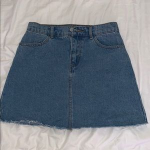 Plain Jean Skirt